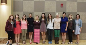 Body Sense members and CSS counselors with Brittany Snow after bringing her in to speak about self-love through a collaboration with OUAB. Credit: Courtesy of OUAB