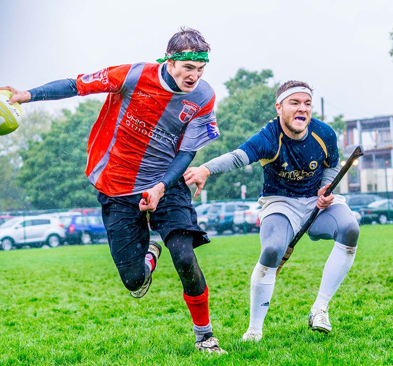 A member of the Ohio State Quidditch League during a match against Michigan. Credit: Courtesy of Jessica Jiamin Lang Photography