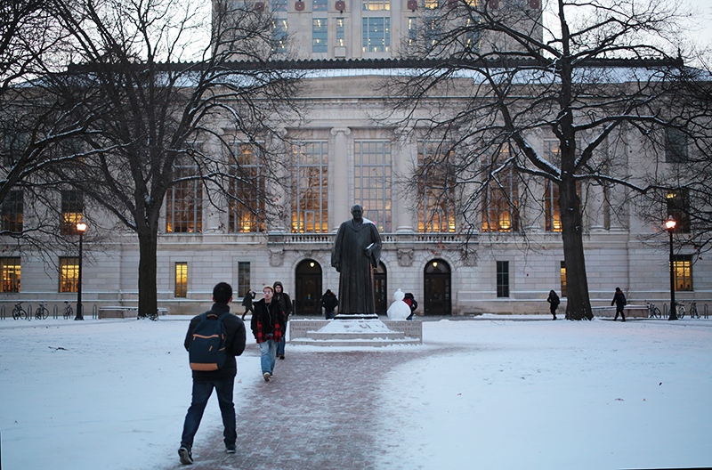 Harsh winter weather can lead to problems for students who have long walks across campus. Credit: Muyao Shen | Asst. Photo Editor
