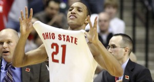 Former OSU guard Evan Turner (21) is set to have his number retired on Feb. 16. Credit: Courtesy of TNS