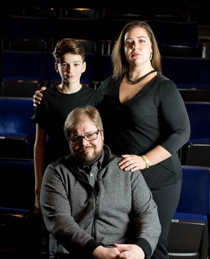 (Left to right) : Evan Farrenkopf (Steven), Scott Douglas Wilson (Joe, OSU alum), Audrey Rush (Maggie, OSU alum). Credit: Courtesy of Michael Cristofer