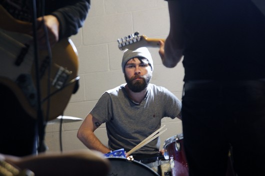 Boxing drummer Logan Stake at practice on Feb. 20. Credit: Sallee Ann Ruibal | Arts&Life Editor
