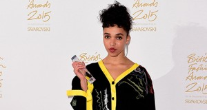 FKA Twigs wins the British Style Fashion Innovator Award at the British Fashion Awards at the London Coliseum. Credit: Courtesy of TNS