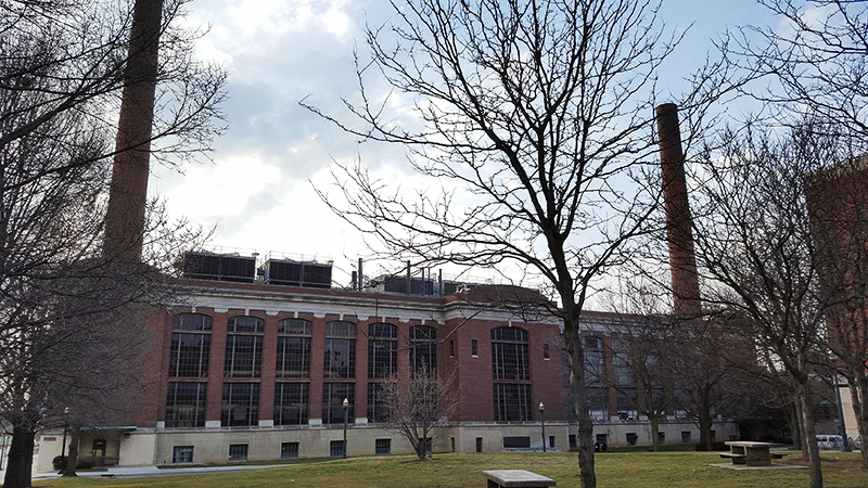 McCracken Power plant, the on-campus steam-power plant.