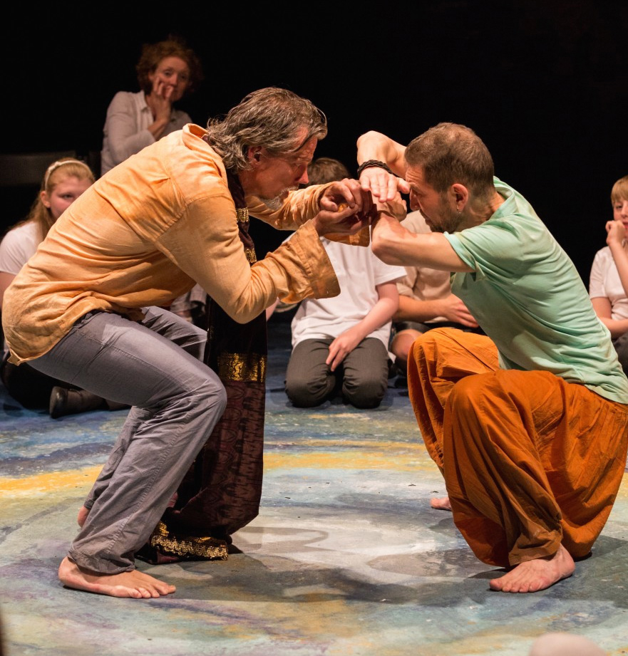 "Kevin McClatchy as Prospero and Greg Hicks as Caliban in ""The Tempest"". Credit: Courtesy of JiRye Lee"