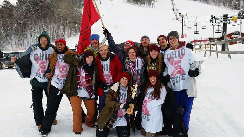 The OSU Ski and Board Team at regionals in Marquette, Michigan. Credit: Courtesy of Hayley Hartman