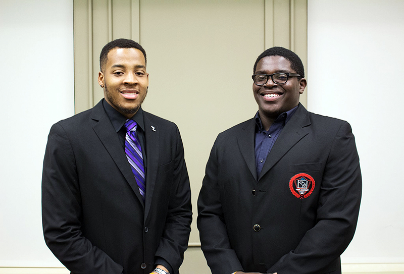 Cin'Quan Haney (left) and Curtis Henry (right) are running as write-in candidates for offices of president and vice president in the upcoming USG election. Credit: Courtesy of Jack Brandl.