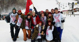 The OSU Ski and Board Team at regionals in Marquette, Michigan.