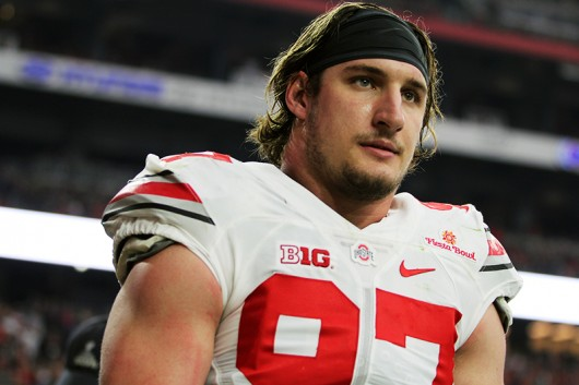 OSU then-junior defensive end Joey Bosa (97) during the Fiesta Bowl on Jan. 1 in Glendale, Arizona. Photo Credit: Lantern File Photo