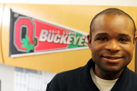 Trevon Logan, an associate professor of economics at Ohio State, poses for a photograph inside his inside Arps Hall. Credit: Courtesy of Trevon Logan