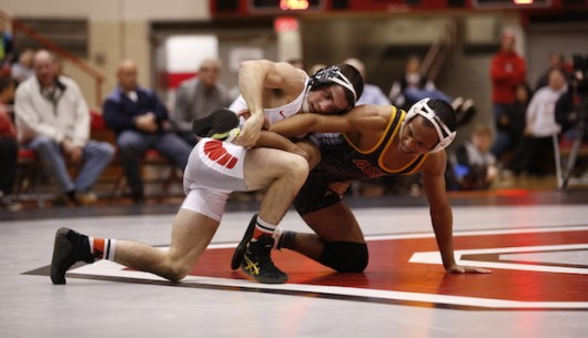 Redshirt sophomore Nathan Tomasello competes in a match against Arizona State on Nov. 13. Credit: Courtesy of OSU