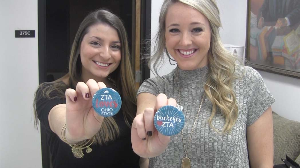 Brooke Bahlinger and Heather Giovenco, leadership consultants for Zeta Tau Alpha. Credit: Amanda Vaughn | News Director