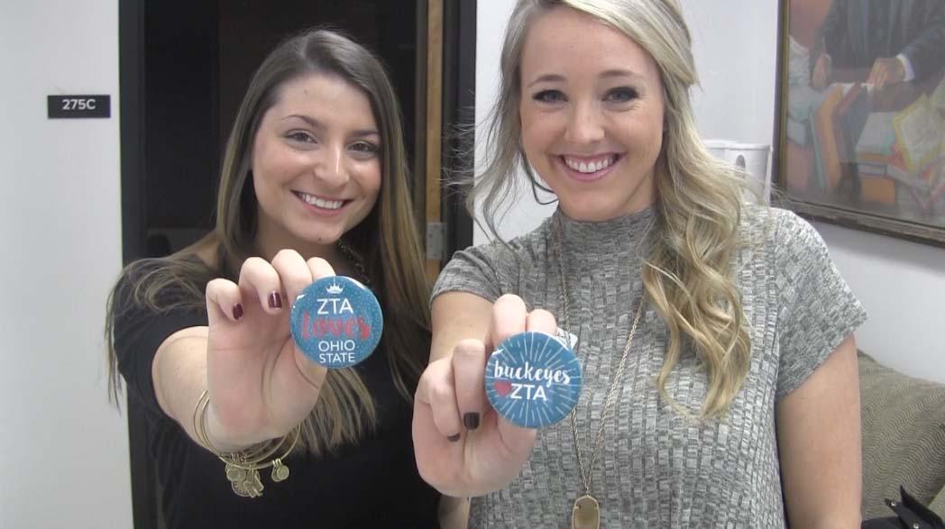 Brooke Bahlinger and Heather Giovenco, leadership consultants for Zeta Tau Alpha. Credit: Amanda Vaughn | News Director