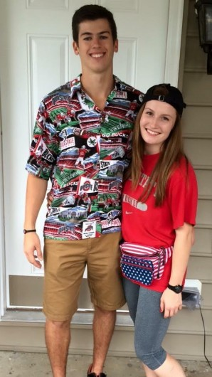 OSU hockey players Nick Crosby and Maggie Rothgery. Credit: Courtesy of Maggie Rothgery
