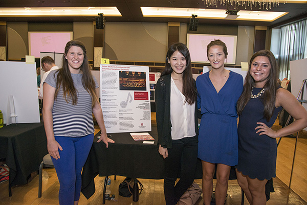 A group of students from Shashi Matta's marketing class presented a proposal for how to better market the Columbus Symphony Orchestra. Credit: Courtesy of Shellee Fisher