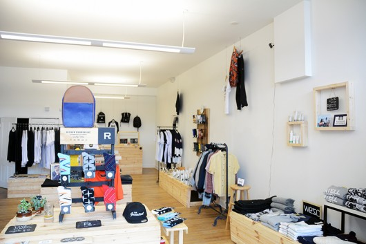 Corey Bee, a Columbus native and the founder of Righno, prefers to keep the interior of his stores simple, a philosophy he developed in order to keep the focus on his products. Credit: Kevin Stankiewicz   Asst. Sports Editor