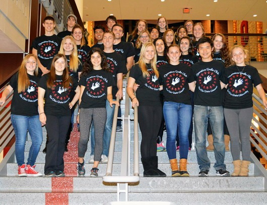 A group photo of Operation Smile OSU. The student organization is putting on a male pageant to raise funds for their cause. Credit: Courtesy of Dena Pierog
