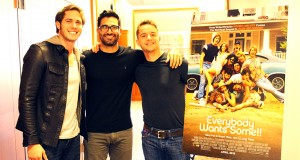 Actors Blake Jenner, Tyler Hoechlin and Will Brittian pose for a picture. Credit: Hannah Herner | Assistant Arts&Life Editor