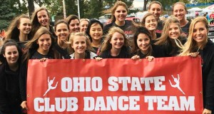 The Ohio State University Club Dance Team pose for a picture. Credit: Courtesy of Amanda Coleman