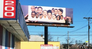 The Weinland Park billboard sits at the North Fourth Street and East Fifth Avenue. Credit: Nick Roll | For the Lantern