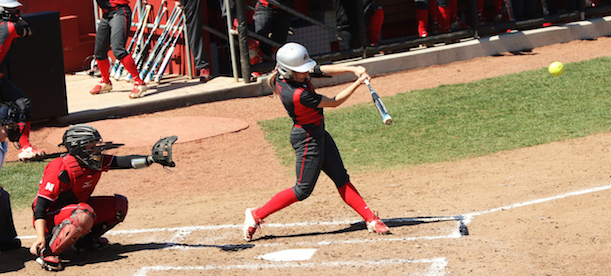 OSU redshirt junior outfielder Alex Bayne swings at a pitch. Credit: Courtesy of OSU