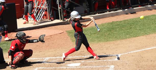 OSU redshirt junior outfielder Alex Bayne swings at a pitch. Credit: Courtesy of OSU