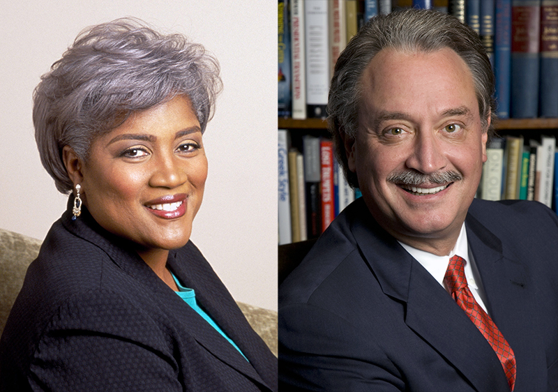 Political strategists Donna Brazile (left) and Alex Castellanos will be visiting Ohio State. Credit: Courtesy of Jonathan Tunick