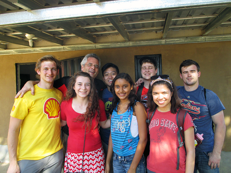 An Ohio State student team traveled to Honduras in January to participate in the Honduras Sustainable Housing Project. Credit: Courtesy of Kelsey Rumburg