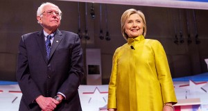 Democratic Presidential candidates Bernie Sanders (left) and Hillary Clinton. Credit: Courtesy of TNS