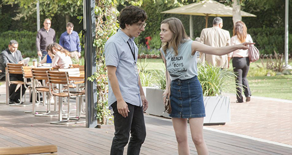 """Paul Rust (left) and Gillian Jacobs in """"Love."""" Credit: Courtesy of TNS"""