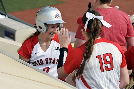 OSU junior outfielder Alex Bayne (left). Credit: Courtesy of OSU