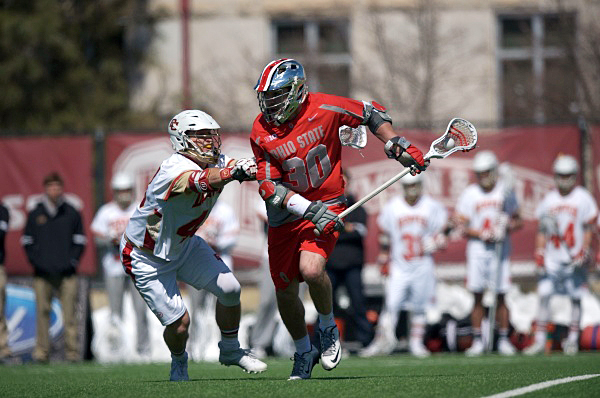 OSU junior midfielder Johnny Pearson (30) during a game on March 19 in Denver. Credit: Courtesy of OSU