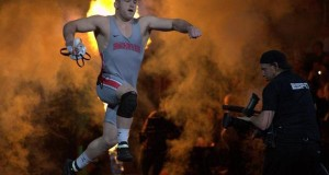 OSU then-sophomore Kyle Snyder enters the arena during the 2016 NCAA Wrestling Championships on March 19 at Madison Square Garden in New York. Credit: Courtesy of OSU