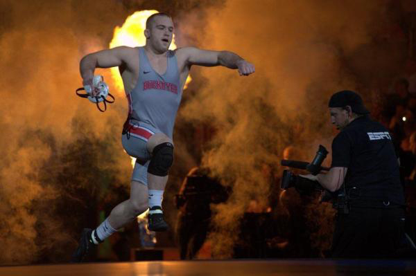 OSU sophomore Kyle Snyder enters the arena during the 2016 NCAA Wrestling Championships on March 19 at Madison Square Garden in New York. Credit: Courtesy of OSU