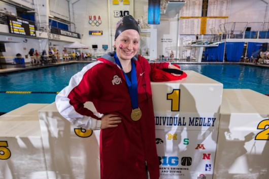 OSU junior Lindsey Clary poses for a picture at the Big Ten championships. Credit: Courtesy of OSU