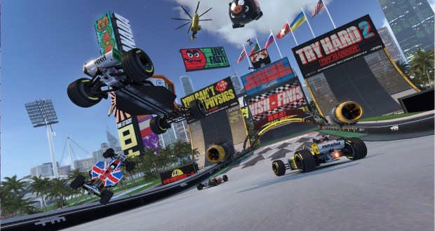 "A screenshot of gameplay in ""Trackmania Turbo."" Credit: Courtesy of Ubisoft"