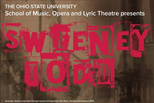 A promotional poster for an upcoming production of Sweeney Todd. Credit: Courtesy of Josh Cook