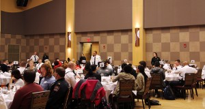 The audience at the Sustained Dialogue event, Rights, Relations and Responsibilites at the Ohio Union on March 31st.