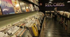A selection of new vinyl at Used Kids Records at 1980 N. High St. Credit: Sam Kayuha | Lantern reporter