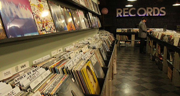 A selection of new vinyl at Used Kids Records at 1980 N. High St. Credit: Sam Kayuha | Lantern reporter