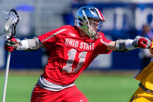 OSU junior attacker Austin Shanks (11) during a game against Hofstra on March 12 in Hempstead, New York. Credit: Courtesy of OSU