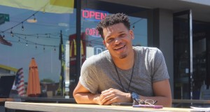 Columbus artist Christon Gray sat down for an interview with The Lantern on April 20. Credit: Zak Kolesar