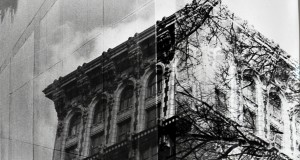 A double exposure of a building in downtown Columbus located at 8 E. Long St. Credit: Sierra Mollenkopf