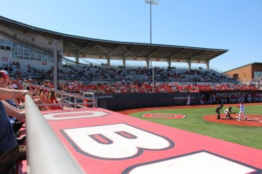 Fans take in a game at Bill Davis Stadium on April 16. Courtesy: OSU Athletics