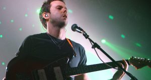 Anthony Gonzalez of M83 performing in London, England. Photo credit, Burak Cingi.