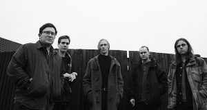 L-R: Tom Kelly, Henry Ruddell, George Mitchell, Mark Goldsworthy, and Liam Matthews of Eagulls. The band is set to perform at The Basement Wednesday night. Credit: Courtesy of Andrew Cotterill