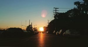 The sun sets on Goodale St. in Columbus, Ohio. Credit: Courtesy of Mason Swires | Asst. Photo Editor
