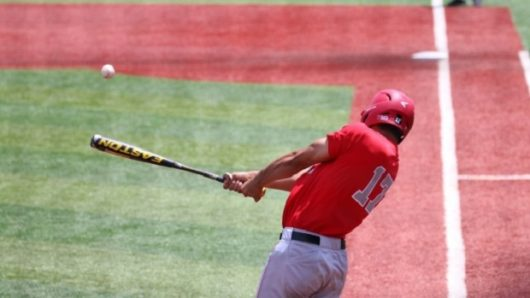 Former OSU first baseman Jacob Bosiokovic at bat versus Wright State on June 5. Courtesy: OSU Athletics