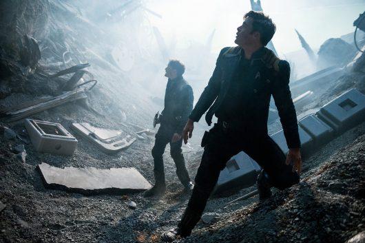 "Anton Yelchin and Chris Pine in ""Star Trek Beyond."" Credit: Courtesy of TNS"