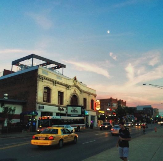 An evening view of High St. Credit: Courtesy of Mason Swires | Asst. Photo Editor